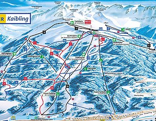 Mapa střediska - areálu - Hauser-Kaibling - Ski amade