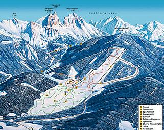 Mapa střediska - areálu - Kaiserau - Admont