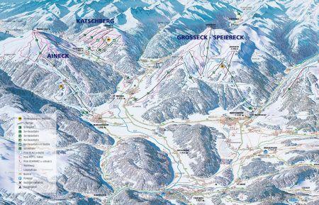 Mapa střediska - areálu - Lungau/Katschberg