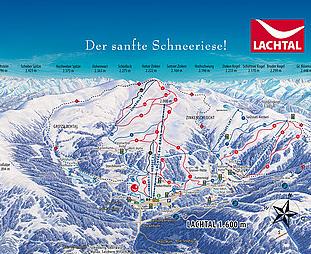 Mapa střediska - areálu - Lachtal