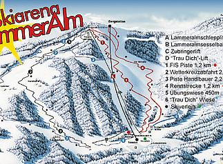 Mapa střediska - areálu - Lammeralm Skiarena