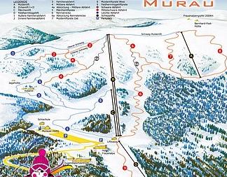 Mapa střediska - areálu - Murauer Frauenalpe