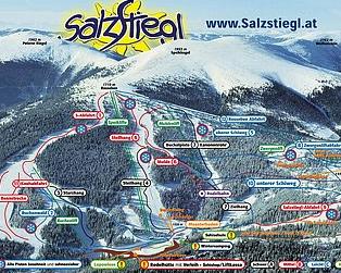 Mapa střediska - areálu - Salzstiegl