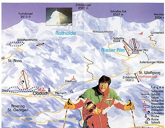 Mapa střediska - areálu - Schizentrum Rieseralm - Obdach