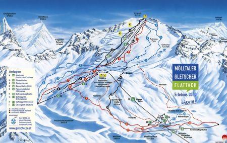Mapa střediska - areálu - Mölltal - Molltaler Gletscher