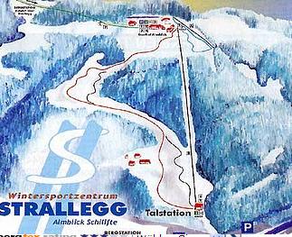 Mapa střediska - areálu - Strallegg