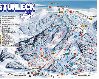 Mapa střediska - areálu - Stuhleck - Semmering