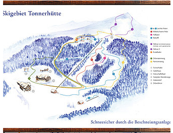 Mapa střediska - areálu - Tonnerhüttenlift