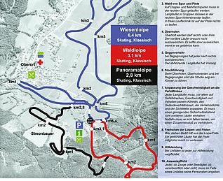 Mapa střediska - areálu - Tragöß