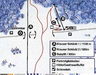 Mapa střediska - areálu - Wenigzell