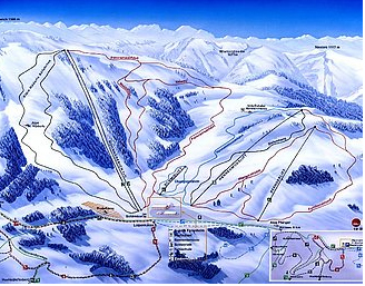 Mapa střediska - areálu - Alpenarena Hochhäderich - Hittisau - Riefensberg