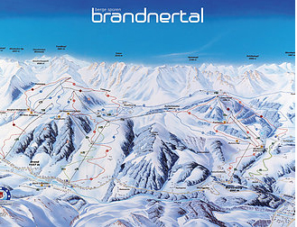 Mapa střediska - areálu - Brandnertal