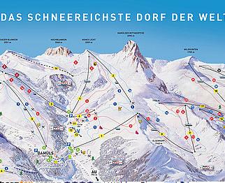 Mapa střediska - areálu - Damüls