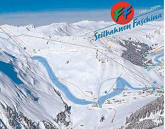 Mapa střediska - areálu - Faschina - Fontanella