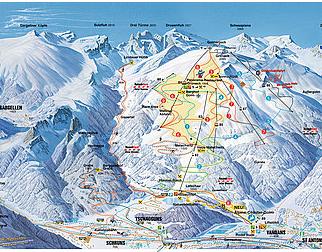 Mapa střediska - areálu - Golm - Tschagguns Vandans