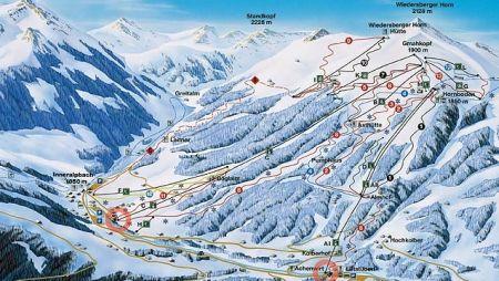 Mapa střediska - areálu - Alpbachtal