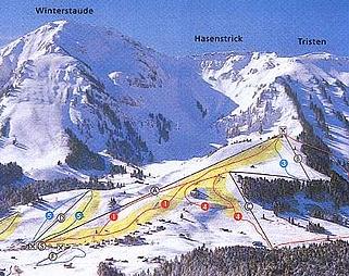 Mapa střediska - areálu - Schetteregg