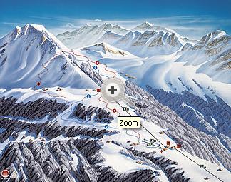 Mapa střediska - areálu - Seilbahnen Sonntag