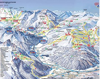 Mapa střediska - areálu - Zillertal
