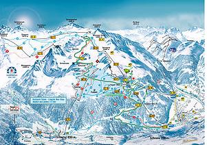 Mapa střediska - areálu - Silvretta Montafon - Hochjoch