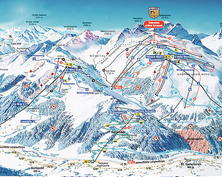 Mapa střediska - areálu - Silvretta Montafon - Nova