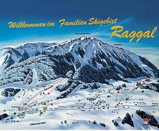 Mapa střediska - areálu - Skilifte Raggal