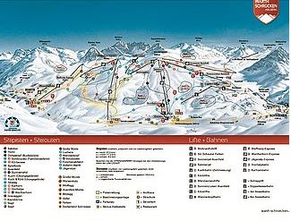 Mapa střediska - areálu - Warth - Schröcken