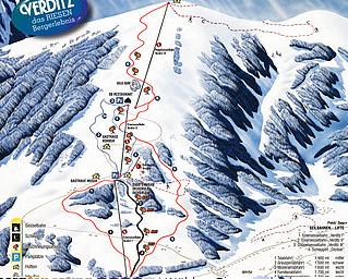 Mapa střediska - areálu - Verditz