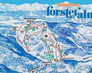 Mapa střediska - areálu - Forsteralm - Waidhofen/Ybbs Gaflenz