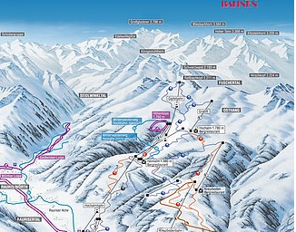 Mapa střediska - areálu - Rauris