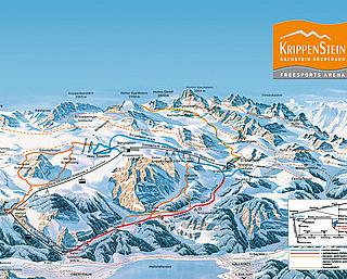 Mapa střediska - areálu - Krippenstein - Dachstein - Obertraun
