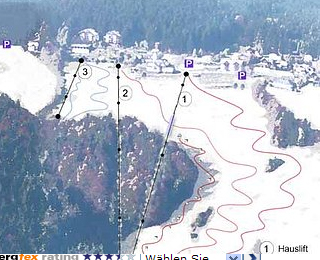 Mapa střediska - areálu - Schilifte Kirchschlag