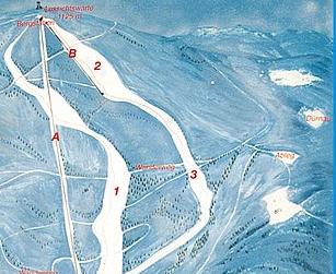 Mapa střediska - areálu - Sternstein Lifte - Bad Leonfelden