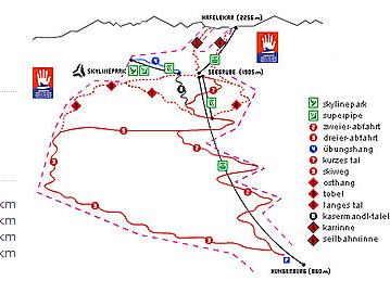 Mapa střediska - areálu - Innsbruck - Olympia Skiwelt