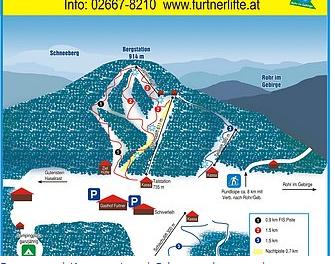 Mapa střediska - areálu - Furtnerlifte Rohr im Gebirge