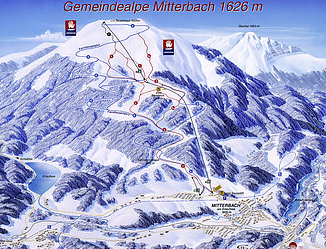 Mapa střediska - areálu - Gemeindealpe