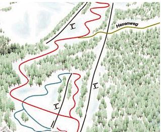 Mapa střediska - areálu - Göllerlifte