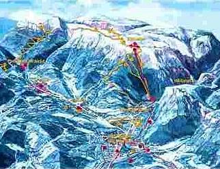 Mapa střediska - areálu - Gsoll-Lift Reichenau an der Rax