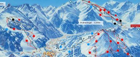 Mapa střediska - areálu - Badgastein - Ski Amade